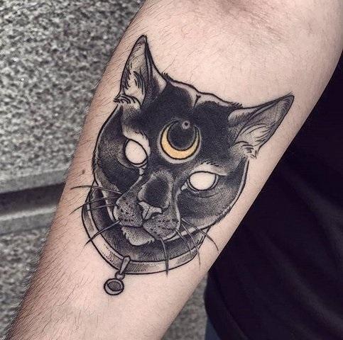 Рисунок египетской кошки 008
