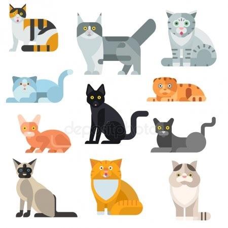 Рисунок египетской кошки 014
