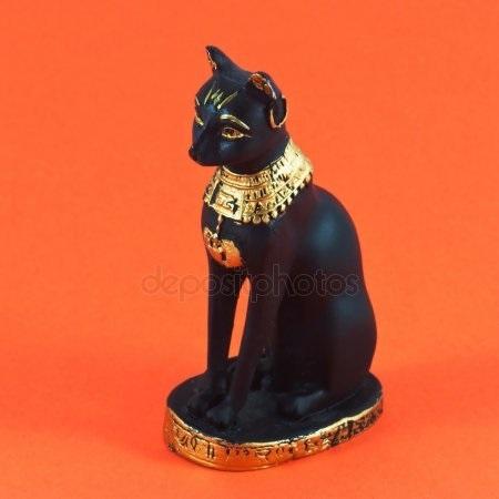 Рисунок египетской кошки 015