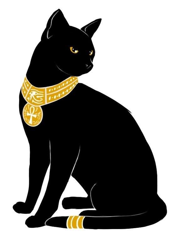 Рисунок египетской кошки 016