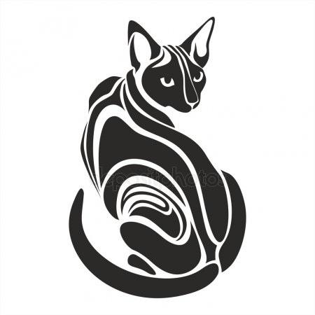 Рисунок египетской кошки 017