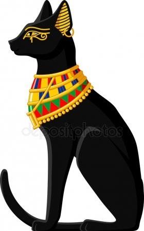 Рисунок египетской кошки 018