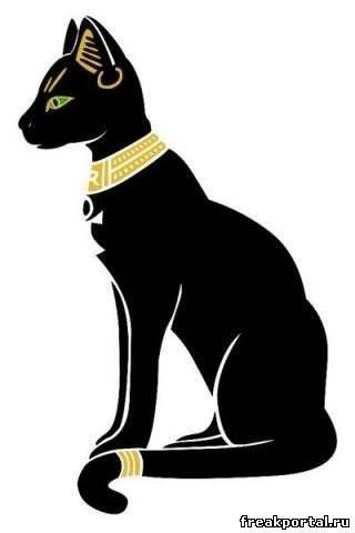 Рисунок египетской кошки 019