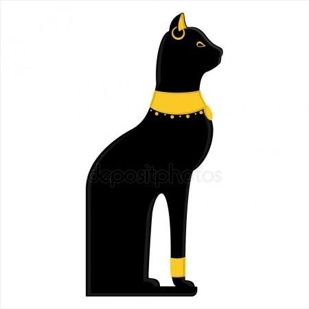 Рисунок египетской кошки 020