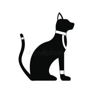 Рисунок египетской кошки 021