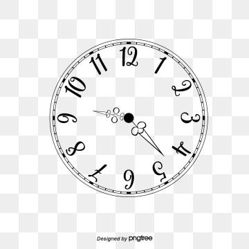 Рисунок часов с римскими цифрами 002