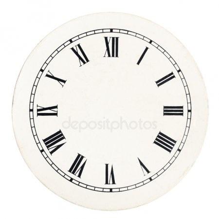 Рисунок часов с римскими цифрами 005