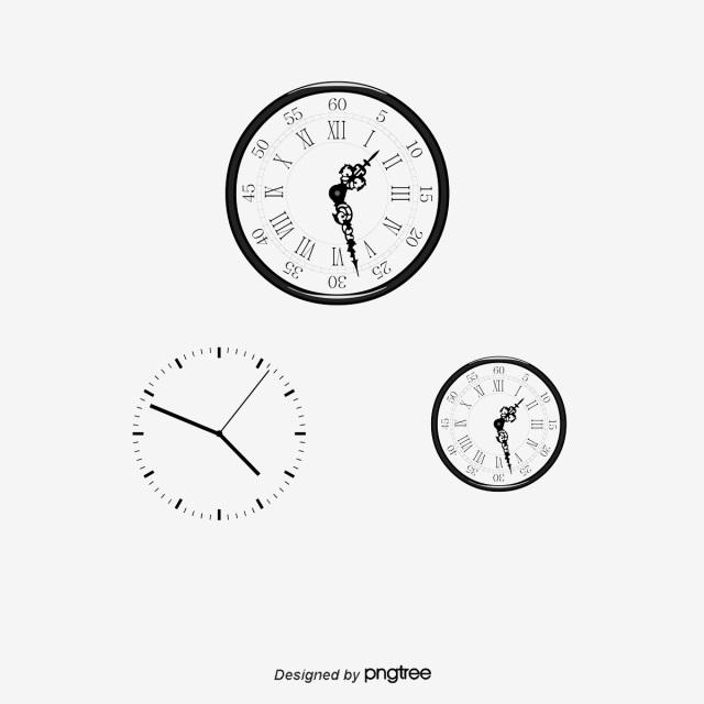 Рисунок часов с римскими цифрами 006