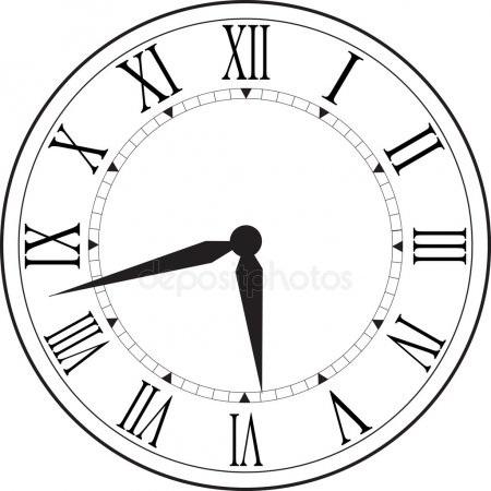 Рисунок часов с римскими цифрами 009