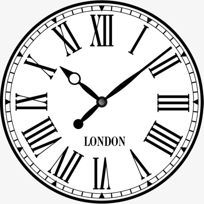 Рисунок часов с римскими цифрами 015