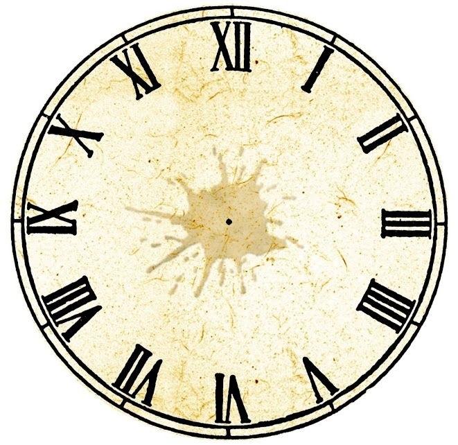 Рисунок часов с римскими цифрами 018