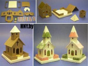 Рождественские домики с подсветкой своими руками 024