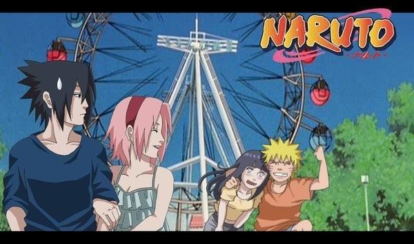 Сакура, Саске и Наруто аниме картинки 006