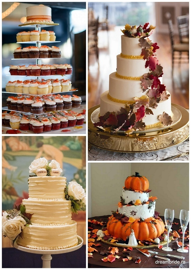 Свадебный торт в осеннем стиле картинки 022