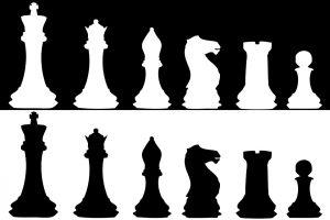 Силуэт шахматных фигур картинки018