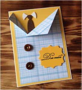 Скрапбукинг открытка на день рождения папе 018
