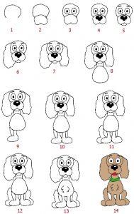 Собачки картинки для рисования 023