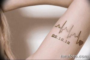 Татуировка в честь рождения сына 021