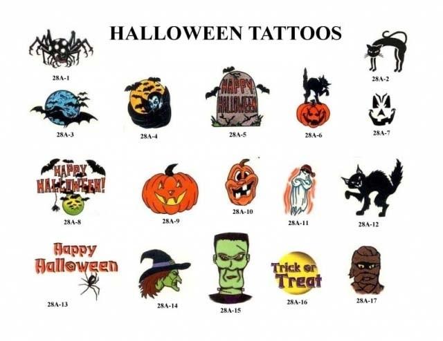 Татуировки на хэллоуин 006