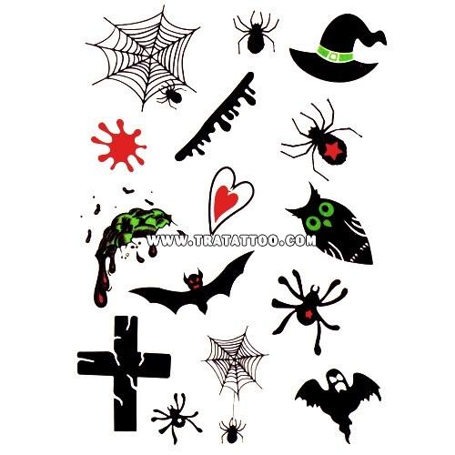 Татуировки на хэллоуин 009