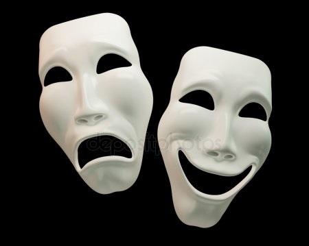 Театральные маски черно белые картинки 005