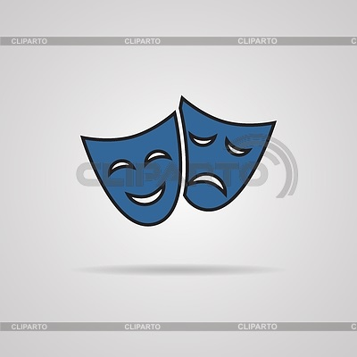 Театральные маски черно белые картинки 009
