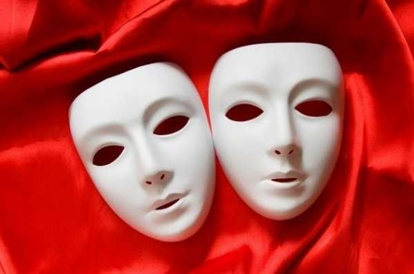 Театральные маски черно белые картинки 011