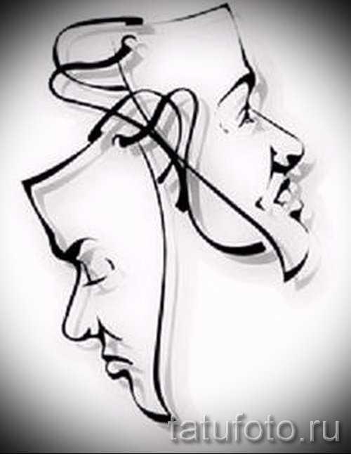 Театральные маски черно белые картинки 015