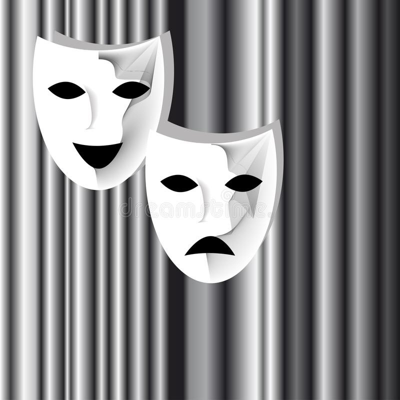 Театральные маски черно белые картинки 020