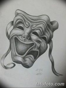 Театральные маски черно белые картинки 021