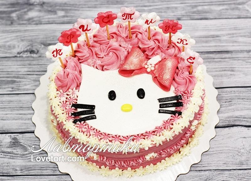 Торты кремовые на день рождения девочке 022