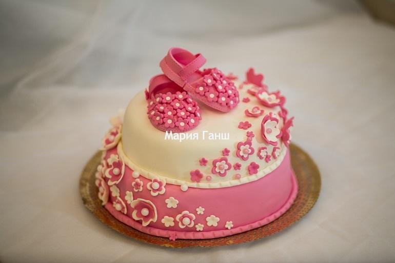 Торт с рождением дочки 006
