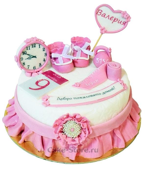 Торт с рождением дочки 007