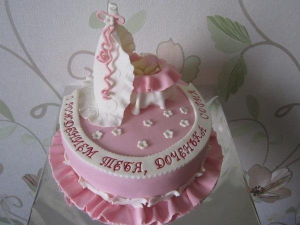 Торт с рождением дочки 013