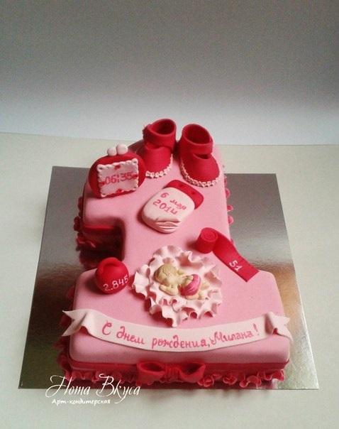 Торт с рождением дочки 015