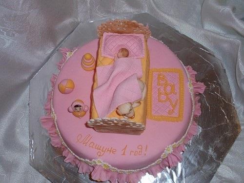 Торт с рождением дочки 016