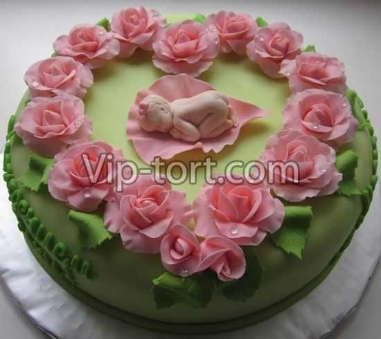 Торт с рождением дочки 018
