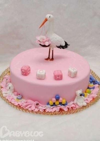 Торт с рождением дочки 022