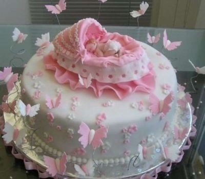 Торт с рождением дочки 023