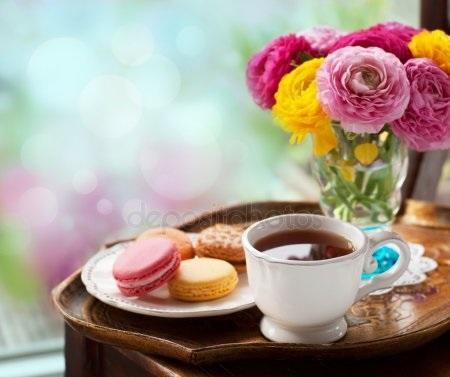 Утро нежность кофе картинки цветы010