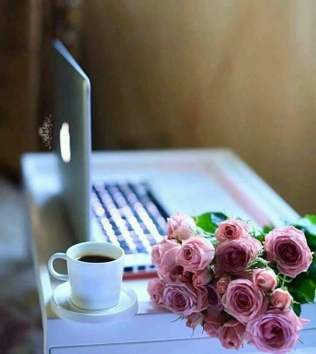 Утро нежность кофе картинки цветы016