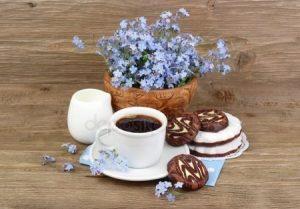 Утро нежность кофе картинки цветы018