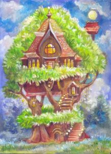 Фантастические рисунки дома 020