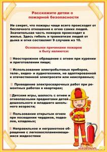 Фон для детей пожарная безопасность 024