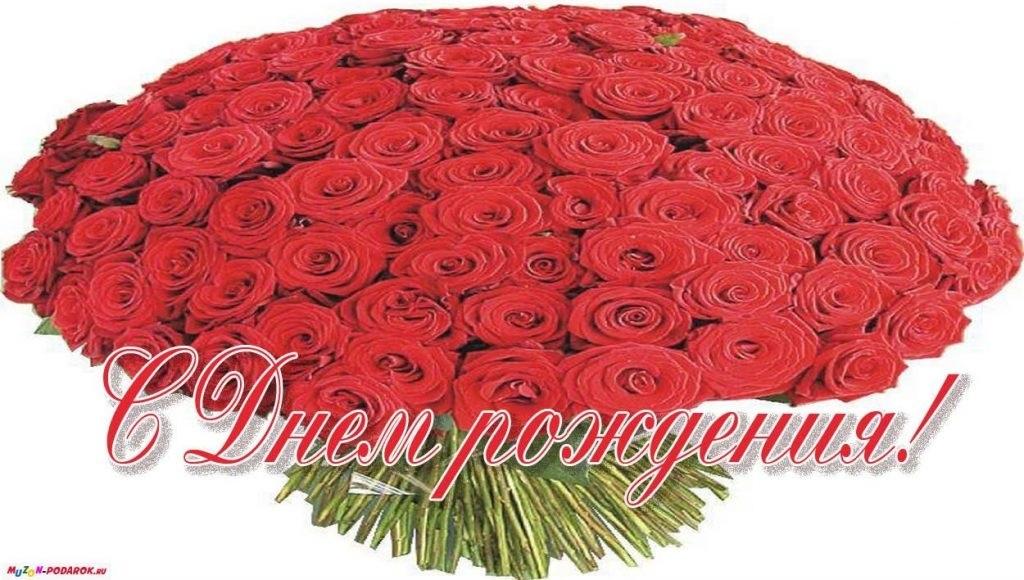 Цветы розы с днем рождения фото009
