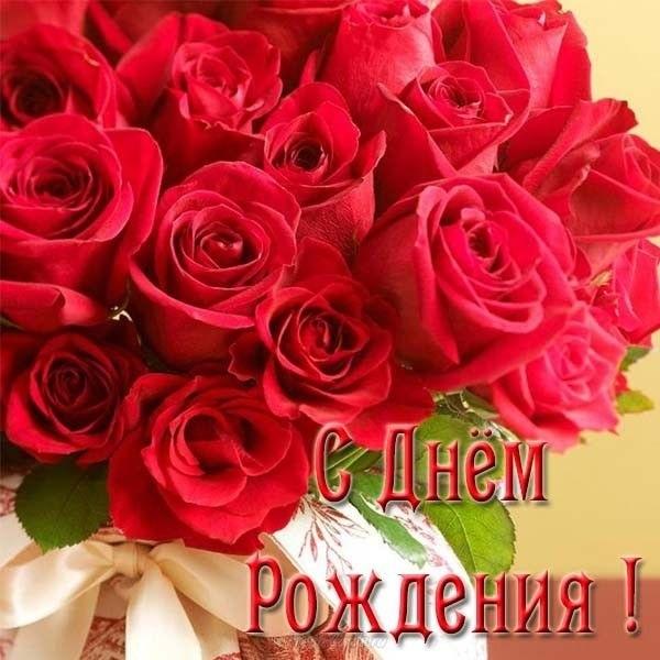 Цветы розы с днем рождения фото012