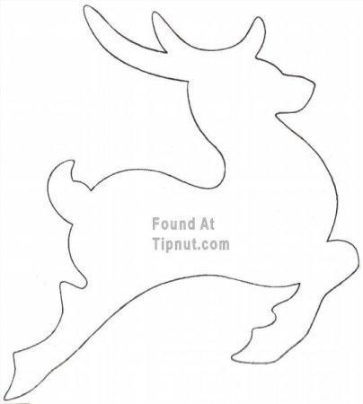 Шаблон из картона сани деда мороза 001