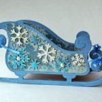 Шаблон из картона сани деда мороза — интересные фотографии