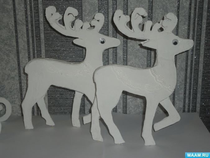 Шаблон из картона сани деда мороза 022