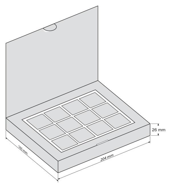 Шаблон коробки для шоколада 012
